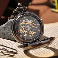 Luxury Men Pocket Watch Vintage Fashion New Design Mechanical Hand Wind Pocket Watch
