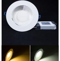 30p/lot New design 15w cob led light panel AC100-240V white shell Cool white/ Warm white 1350lm led ceiling lamp CE&ROHS