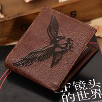 New Arrivel Wallet 2014!Fashion Eagle Mens Bifold Clutch Leather Wallet Purse New Design Wallet Zipper Coffee Free Shipping M01