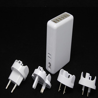 20pcs/lot 6 USB Ports Wall universal Cell Phone Chargers 5V 4A AC Power Adapters for Iphone for Samsung US/EU/AU/UK Plug