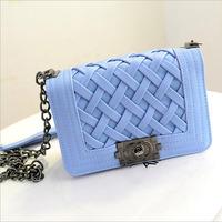 Brand new 2014 fashion women handbags knitted desigual shoulder bags women clutch genuine PU leather clutch bags messenger bags