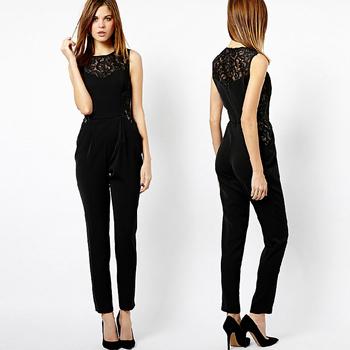 Plus Размер XXXL 2014 Женщины CloТонкийg Hollow Back Elegant Jumpsuit Женщины Сплошной ...