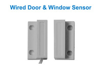 CE Approved Wired Door Window Sensor Magnetic Switch Home Alarm System 10pcs/lot free shipping