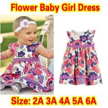 new arrival 2015 Summer cottonbaby girl dress floral dresses children clothing flower girls dresses(China (Mainland))