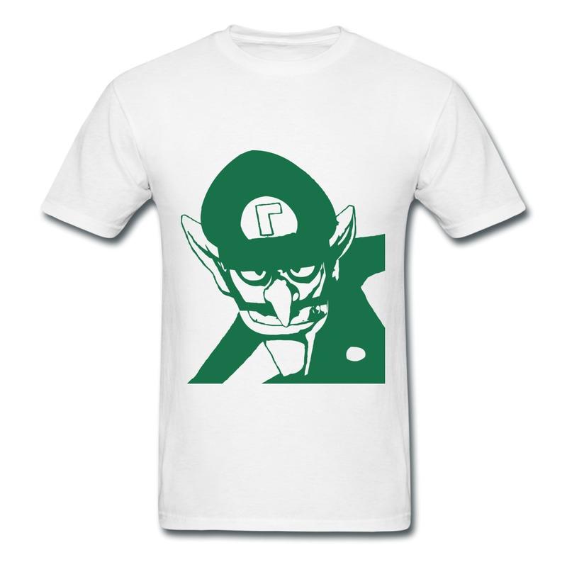 Solid Boy T Shirt Bad guy Waluigi design Funny Picture Men's Tee Shirts(China (Mainland))