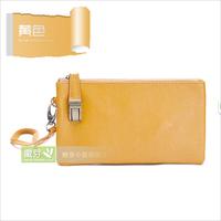 2014 Direct Selling Sale Solid Bag Mini(<20cm) Genuine Leather Clutch Women's Handbag Long Design Fashion Day Coin Purse Brief