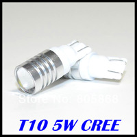 Free shipping Car Lights T10 w5w led  DC12-24V 5w Cree XPE High Power Car bulbs T10 Led Car Light led bulbs