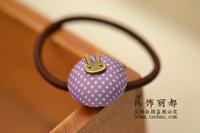 50pcs/lot Free shipping! Korean hair Shengpi tendons / cute candy / mushroom circle dot bunny hair accessories hair tie