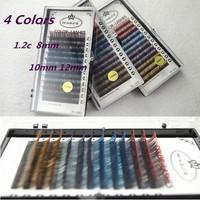 Natural Colorful Mink Eyelashes False Eyelashes Korean Pro Individual Human Hair Curly False Eyelashes 8/10/12mm 0.12C E808