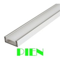 1m led profile aluminium channel waterproof with milky cover YD-1205-F for led bar rigid strip light  by DHL 20pcs/lot