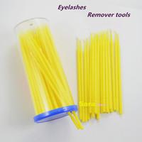 100pieces Disposable Makeup Brushes Swab Lint Free Micro Brushes Eyelash Extension Tool Individual Lash/Glue Removing Tool