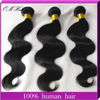 OM Hair:Cheap Malaysian Virgin Hair Body Wave Queen Weave Beauty Extension 3pcs/lot Remy Hair Weaves Queen Love Hair 100g/pc #1b