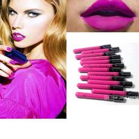 New Arrival makeup lipstick Waterproof Elegant amaranth Color Lipgloss matte violet color smooth liquid velet lipstick