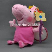"Free Shpping 10/Lot New Peppa Pig Plush Doll Stuffed Toy Princess Peppa 7"" (18CM)"