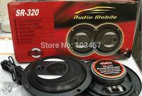 Free shipping,  5 inch Three Way Coaxial Full Range Speaker, Car Speaker, Slim Type, 4 ohm, 200W, diameter:142mm, 2pcs a lot
