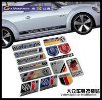 VW Volkswagen R ABT Skoda mblem car aluminum alloy sticker, for VW CC Golf Polo universal use