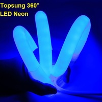 25meter~ 110v high quality 360 degree DIA 25mm round flexible neon light 100 led flex rope lamp for building profile neon sign