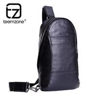 Genuine leather men Chest pack male shoulder bag man casual multifunctional backpack