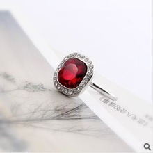 red rubies new spring 2014 fashion jewelry designer gifts crystal bijoux joias acessorios anillos bague anel