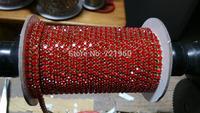 Gold plating  SS12 (3mm)  Fuchsia Preciosa rhinestone close cup chain