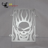 VULCAN 900 VN900 Skull Flames Radiator Grille Cover Polished Stainless