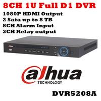 Dahua DVR 8 Channel DVR5208A 8CH FUll D1 DVR 1U H.264 Standalone CCTV DVR Recorder Email Alarm 8CH Alarm Input 3CH Relay Output