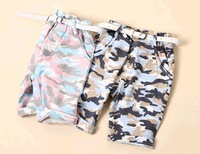 Free shipping 2014 new summer Camo elastic waist belt pants children children's clothing wholesale trade