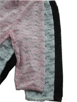 Lace Leggings Girls Baby Leggings black,white & pink capri leggings summer