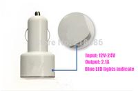 5pcs/lot High Quality mini 2-Port 1A-2.1A, Bullet Dual USB Car Charger Adaptor for ipad iphone 5s s4