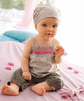 Bebe Infantil Baby Girls Kids Headbands+Top Skirt+Short Pants Trousers Clothes Clothing Sets Suits Flower Vestidos De Menina