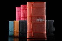2014 new Brand Gift Box wallets women's Genuine stingray skin purse bag multi-functional long cardholder freeshipping
