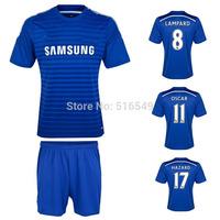 2015 Chelsea Jersey 14 15 Home top quality  Chelsea 2015 Football T Shirt Away Yellow Training Uniform Hazard Oscar Schurrle