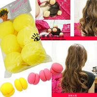 Sponge kinkiness ball hair curls roller romantic hair curlers rods cake roll ball 6.0 bag