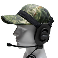 Z Tactical Military Airsoft Paintball Hunting Sniper Bowman Elite II Headset Z 027 Fit All  PTT Plug BLACK