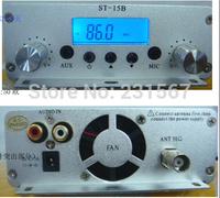 Factory price! 15W FM transmitter FMU SER ST-15B stereo PLL broadcast radio with 86MHz-108MHz-100khz