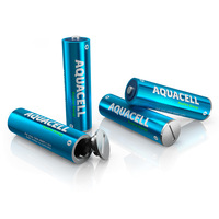 Free shipping 1pair Switzerland AQUACELL Rechargeable Battery No. AA5 Unlimited storage hydropower battery water charge battery
