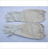 1 Pair Protective Beekeeping Bee Keeping  Gloves Goatskin Vented Long Sleeves Guard Gloves