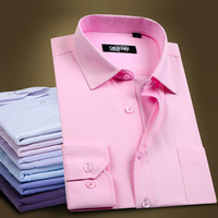 Men's clothing tooling Work  male business casual slim long-sleeve  Modal Dress Shirts Y0157