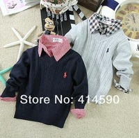 autumn sweater 2014 New Arrival Striped  Kids Sweaters Baby Boys  Sweater Children Sweater Cardigan ,5pcs/lot Free Shipping