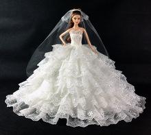 high quality handmade nice dress clothes veil for lovely Doll B01