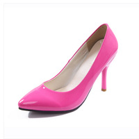 2014 new high-heeled shoes high-heeled pointed shoes wedding shoes nightclub sexy shoes work shoes  Patent leather high heels