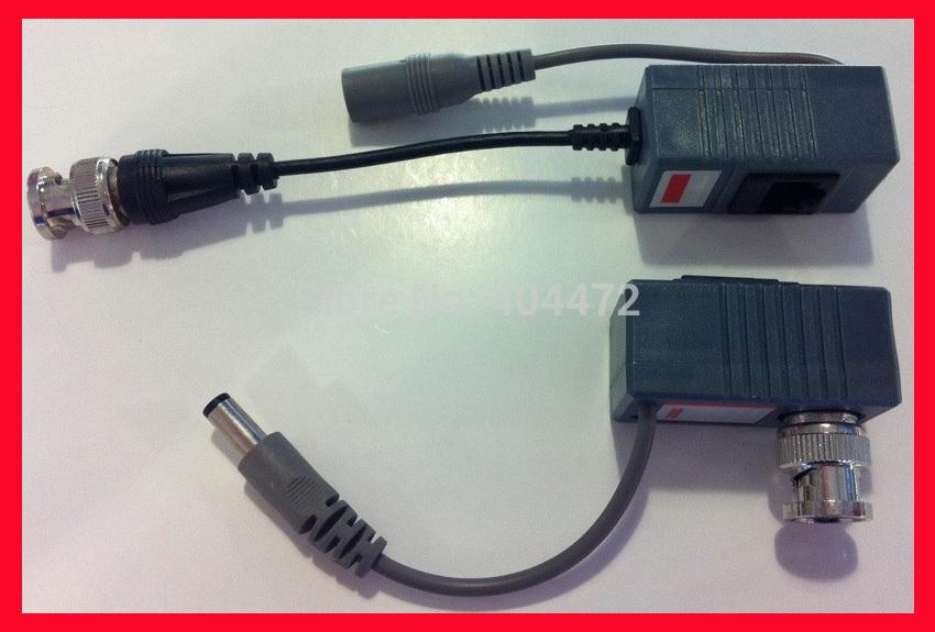 20pcs/lot (10 pair )CCTV Camera Video Balun Transceiver BNC UTP RJ45 Video Balun Video and Power over CAT5/5E/6 Cable(China (Mainland))