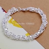 Wholesale H073 Fashion 925 Sterling Silver Women Sweet Bracelet Chain,Top Quality Jewelry Bracelet