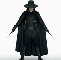 Free shipping Halloween costume Christmas suits genuine Earl v Vendetta  Hat + wig + mask + wholesale