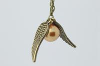 1pcs Harry Potter necklace pendant golden snitch Necklace golden 2013 new