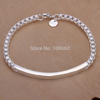 HOT SALE H079 Fashion 925 Sterling Silver Lady Sweet Box Bracelet Chain,Top Quality Jewelry Bracelet