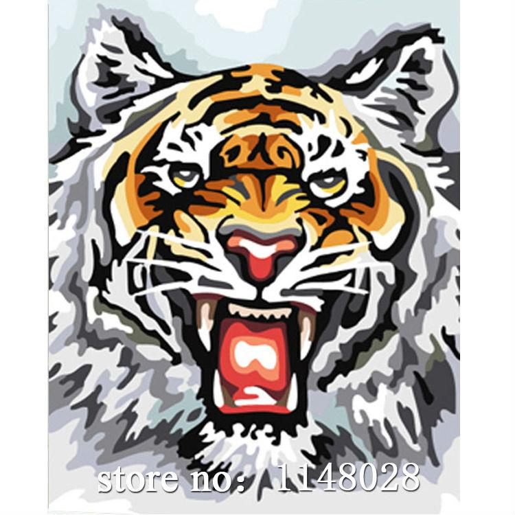 DIY Mosaic Handmade 3d Diamond Painting ANIMAL TIGER Embroidery Needlework Cross Stitch Novelty Rhinestone Crystal Paste Picture(China (Mainland))