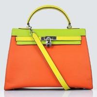 2014  New  brand bag,  whole real leather handbag   tote bag real leather bag women messenger bags famous brand