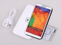 QI Wireless Charger Charging Transmitter + Cell Phone Charger qi Receiver Set for Samsung Galaxy Note 3 III N9000 N9005