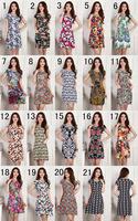 Hot 2014 women dress large size slim dress Milk ice silk print dress L XL XXL XXXL XXXXL fashion 29 colors best selling